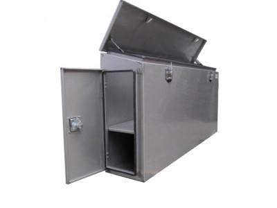 Pritschenbox mit Seitentüren Edelstahl